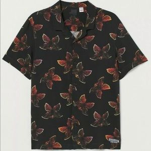Men's Medium Stranger Things H&M Resort Shirt
